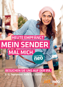 ZDFneo-Werbeplakat zur IFA