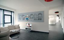 Eingangsbereich der ZDF Werbefernsehen GmbH